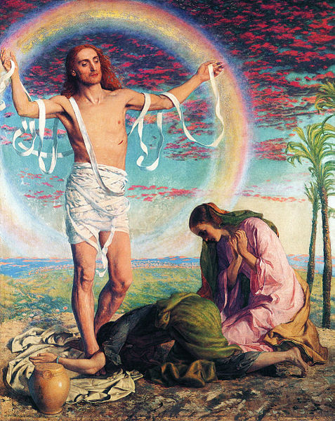 """Christ and the Two Marys"" by William Holman Hunt"