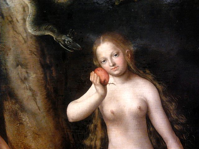 """Adam and Eve"" (detail) by Lucas Cranach the Elder; Public Domain"