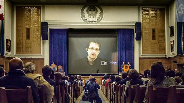 """Edward Snowden at Upper Canada College, World Affairs Conference 2015"" © Roger Sheaffe; Creative Commons License"