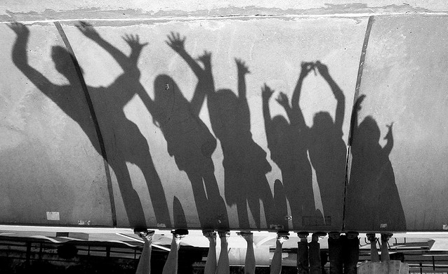"""""""Free Daddy and His Little Shadow Girls at the Skate Park"""" © D Sharon Pruitt"""
