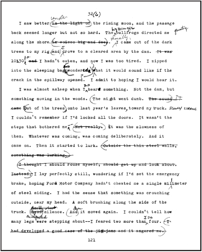 A sheet from the fourth draft as edited by Jack LaZebnik © William Trogdon