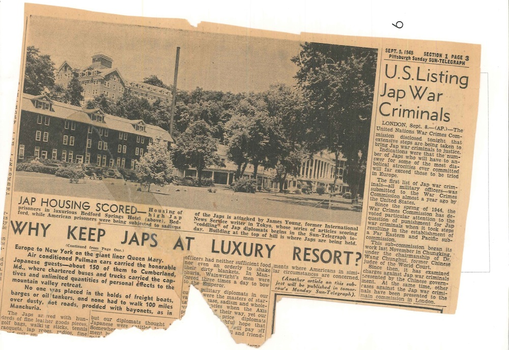 Excerpt from <i>Pittsburgh Sun-Telegraph</i> (September 1945) © Ellen Prentiss Campbell; used by permission