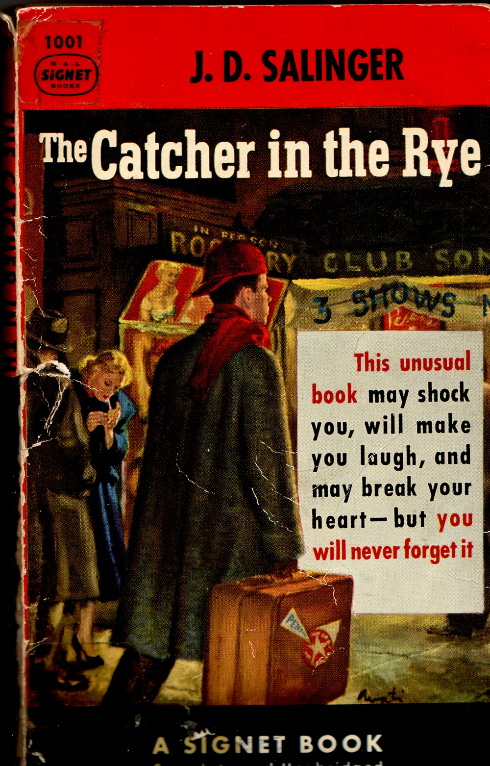 love and lit in the time of acne talking writing the cathcher ibn the rye signet book cover in 1972