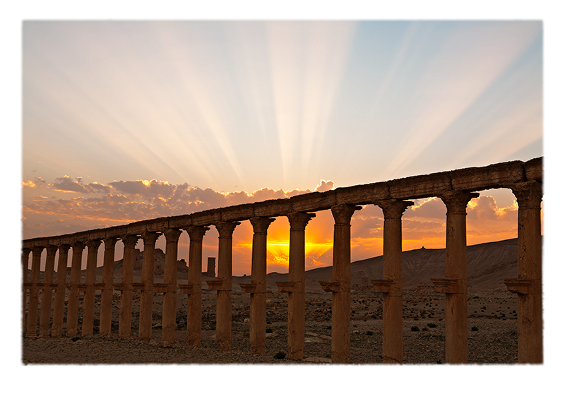 """Sunset Behind Colonnade"" © Saïd Nuseibeh; used by permission"