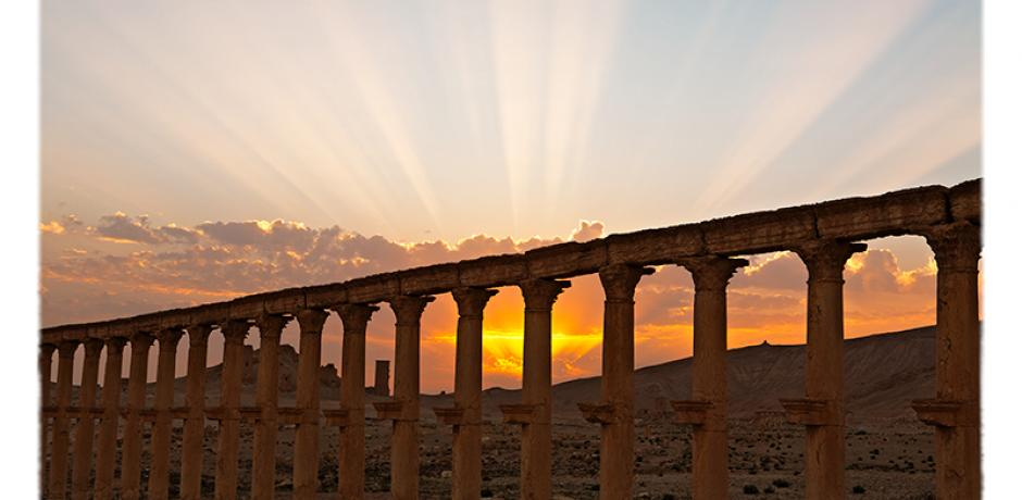 """""""Sunset Behind Colonnade"""" © Saïd Nuseibeh; used by permission"""